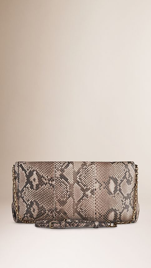 Trench Medium Python Clutch Bag - Image 3