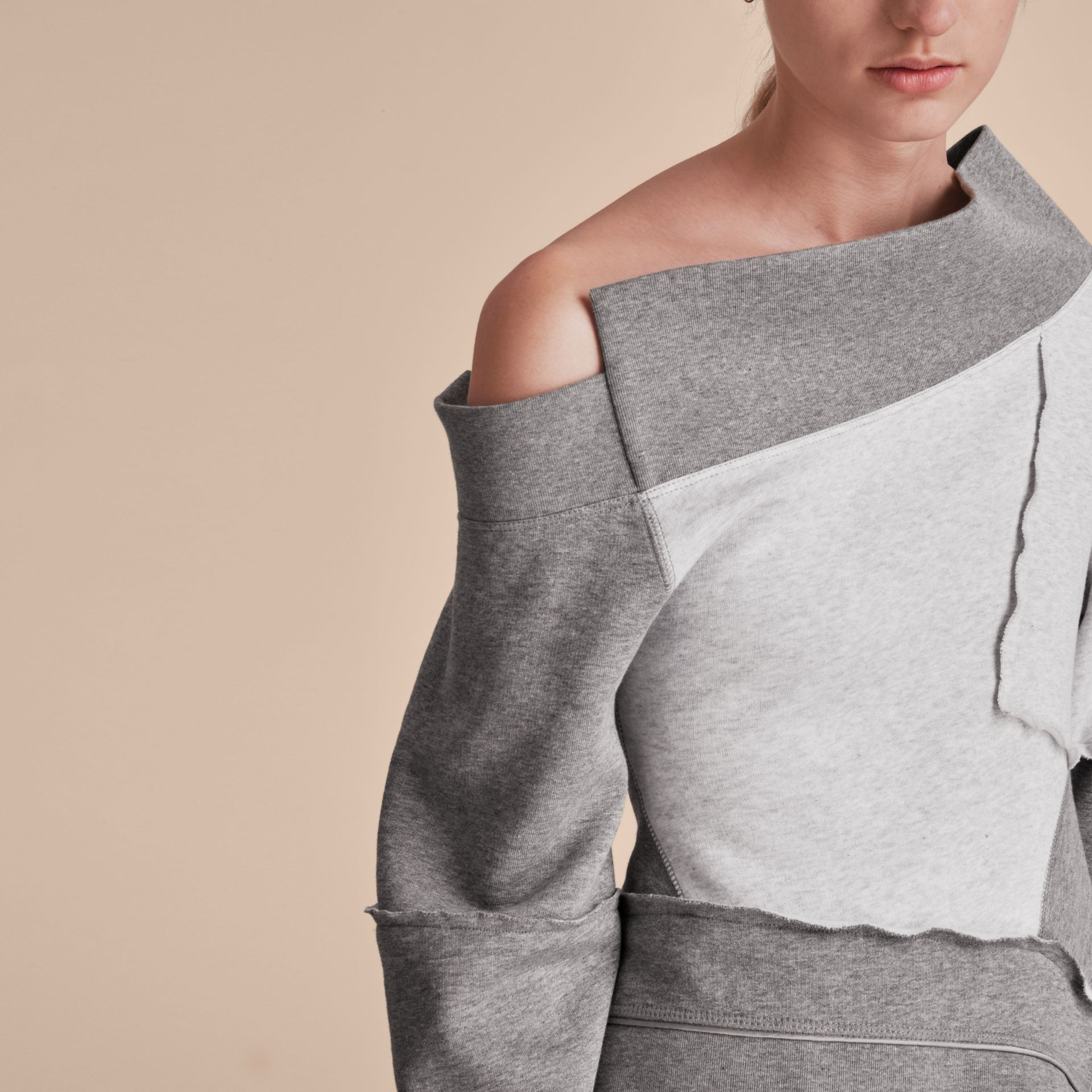 Sculptured-sleeve Seam Detail Sweatshirt - Women | Burberry - gallery image 6