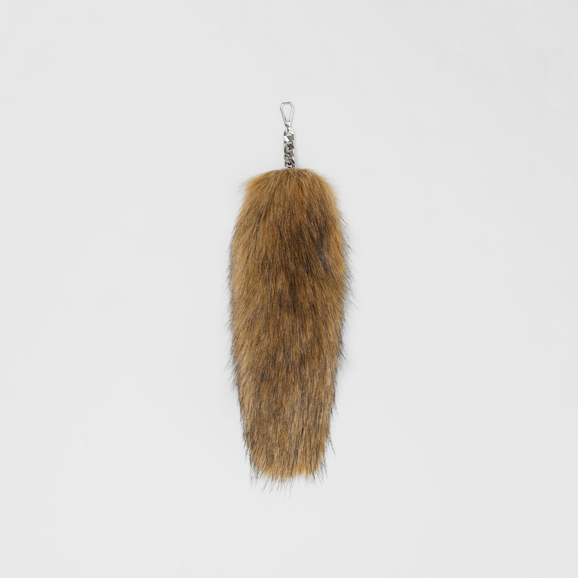 Faux Fur Tail Charm in Camel | Burberry - gallery image 0
