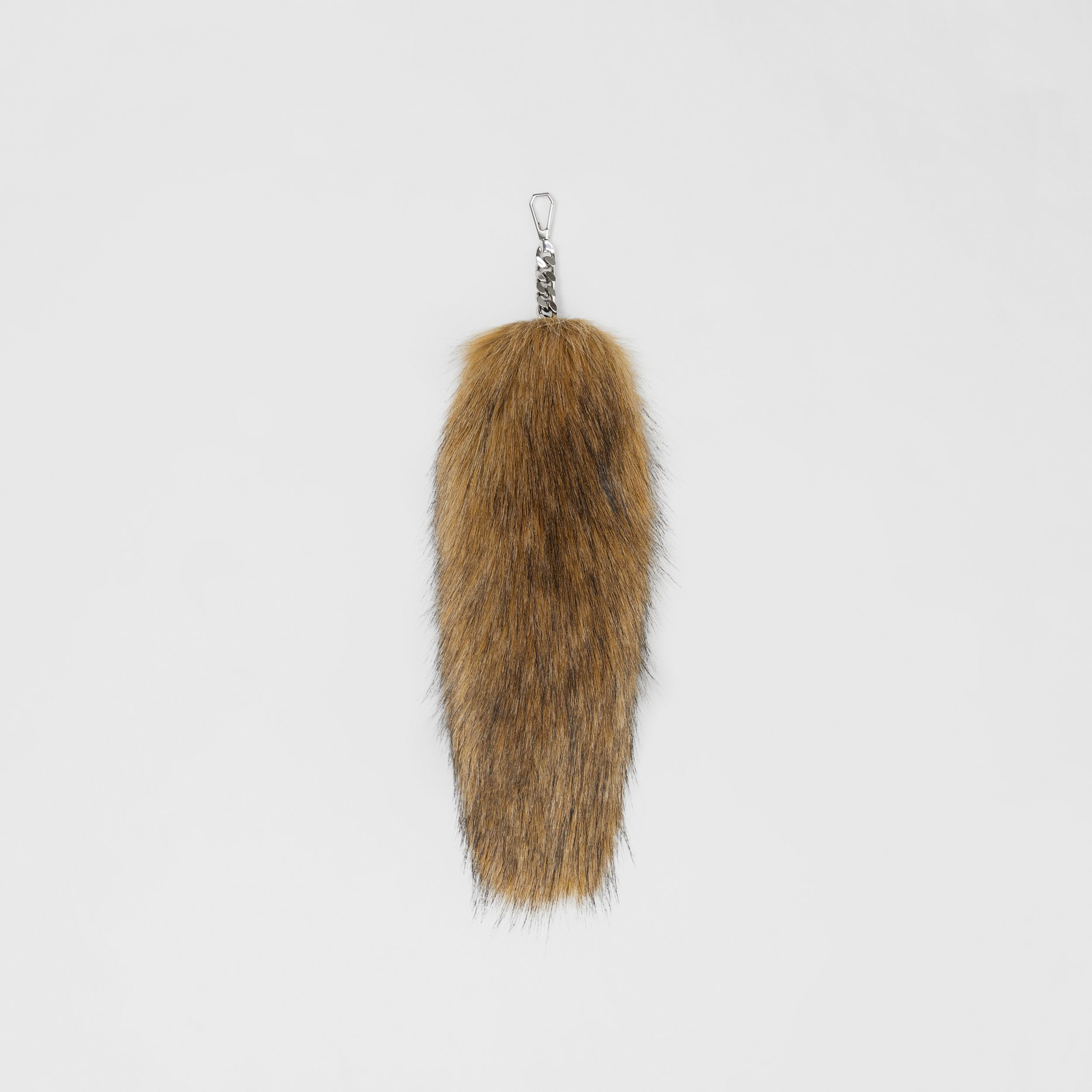 Faux Fur Tail Charm in Camel | Burberry Singapore - 1