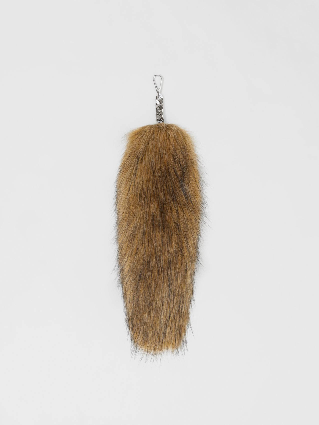Faux Fur Tail Charm in Camel