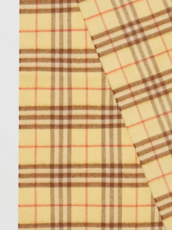 The Classic Vintage Check Cashmere Scarf in Pale Primrose | Burberry Australia - cell image 1