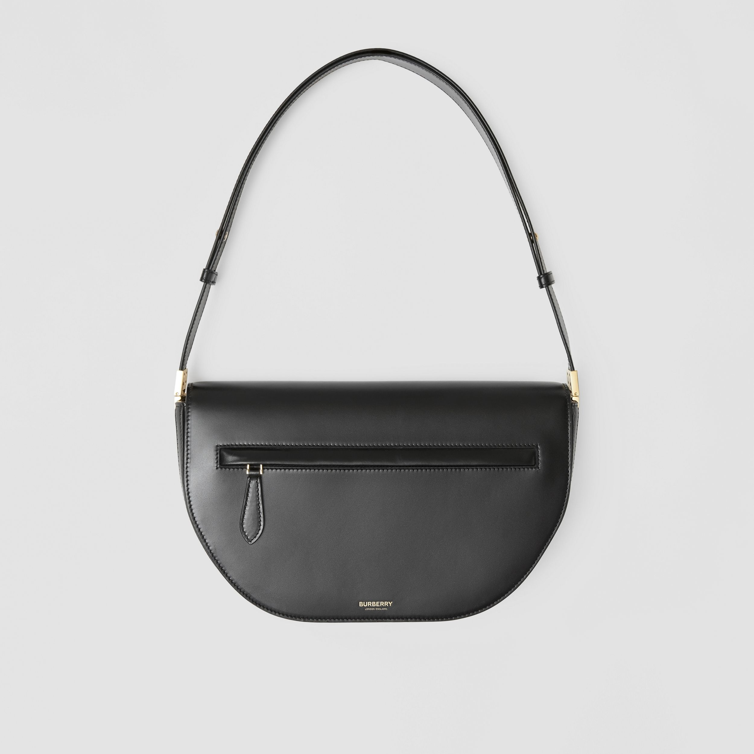 Medium Leather Olympia Bag in Black | Burberry Canada - 1