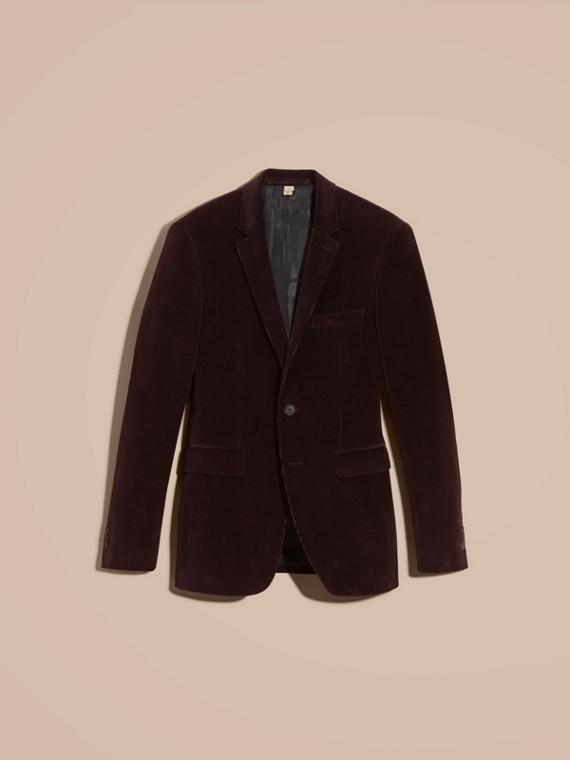 Violet indigo Veste de costume slim en coton côtelé - cell image 3
