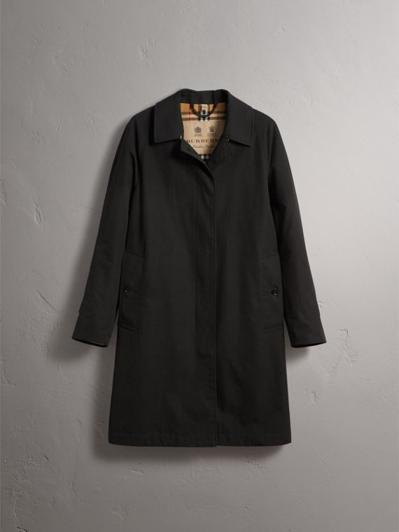 The Camden – Long Car Coat in Black
