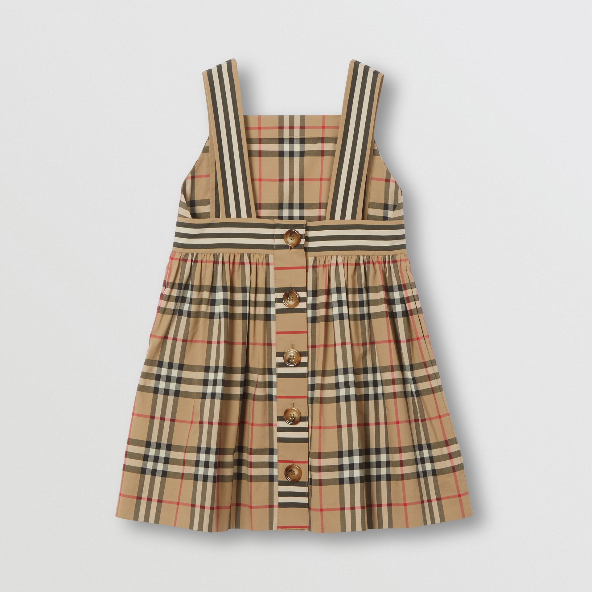 Vintage Check Cotton Dress in Archive Beige | Burberry Australia - gallery image 3