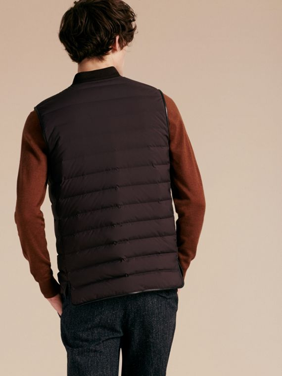 Elderberry Lambskin Trim Down-filled Gilet - cell image 2