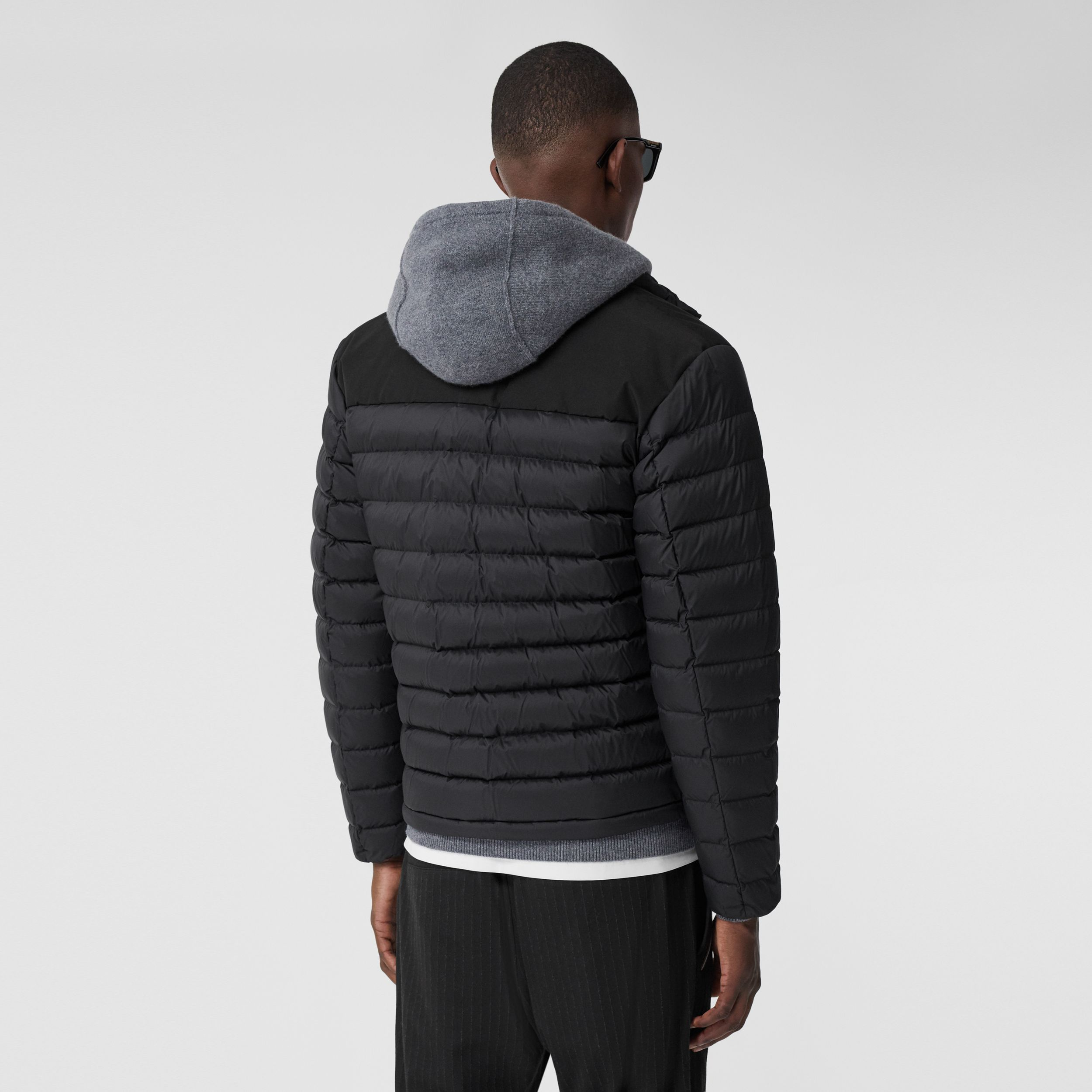 Logo Appliqué Lightweight Puffer Jacket in Black - Men | Burberry Singapore - 3