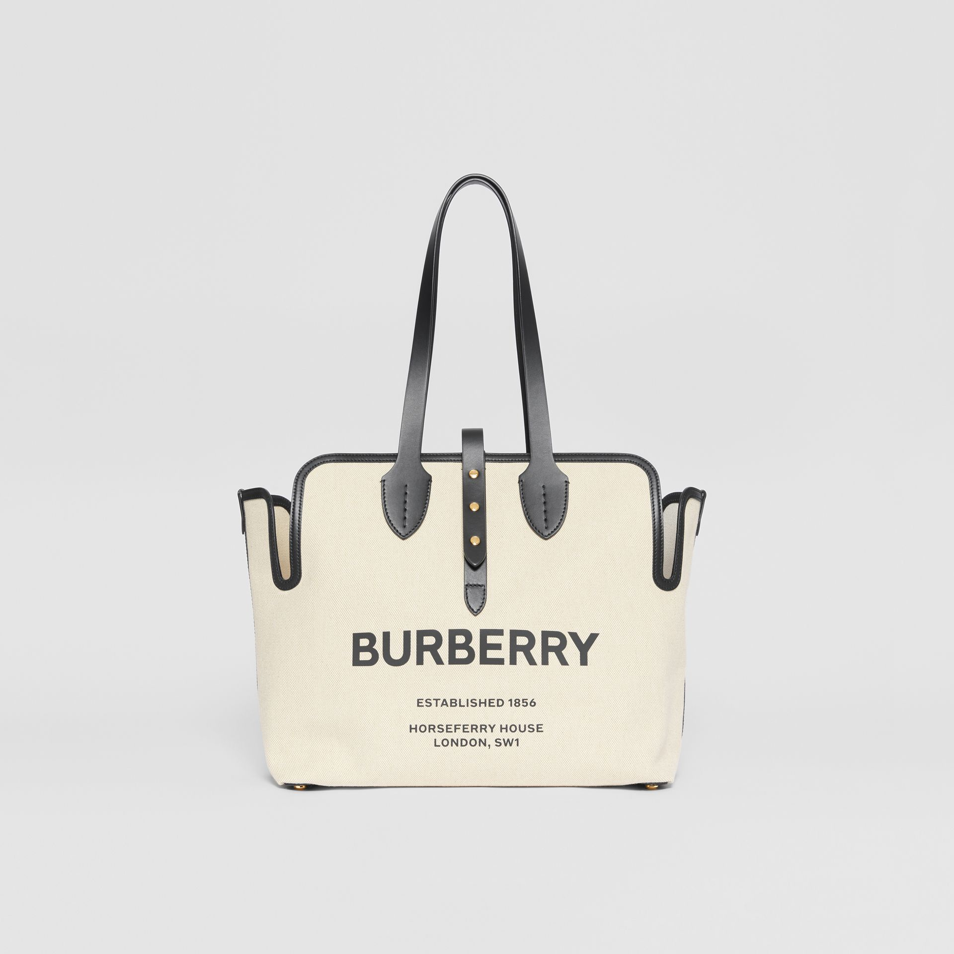 The Medium Soft Cotton Canvas Belt Bag in Black - Women | Burberry United Kingdom - gallery image 0