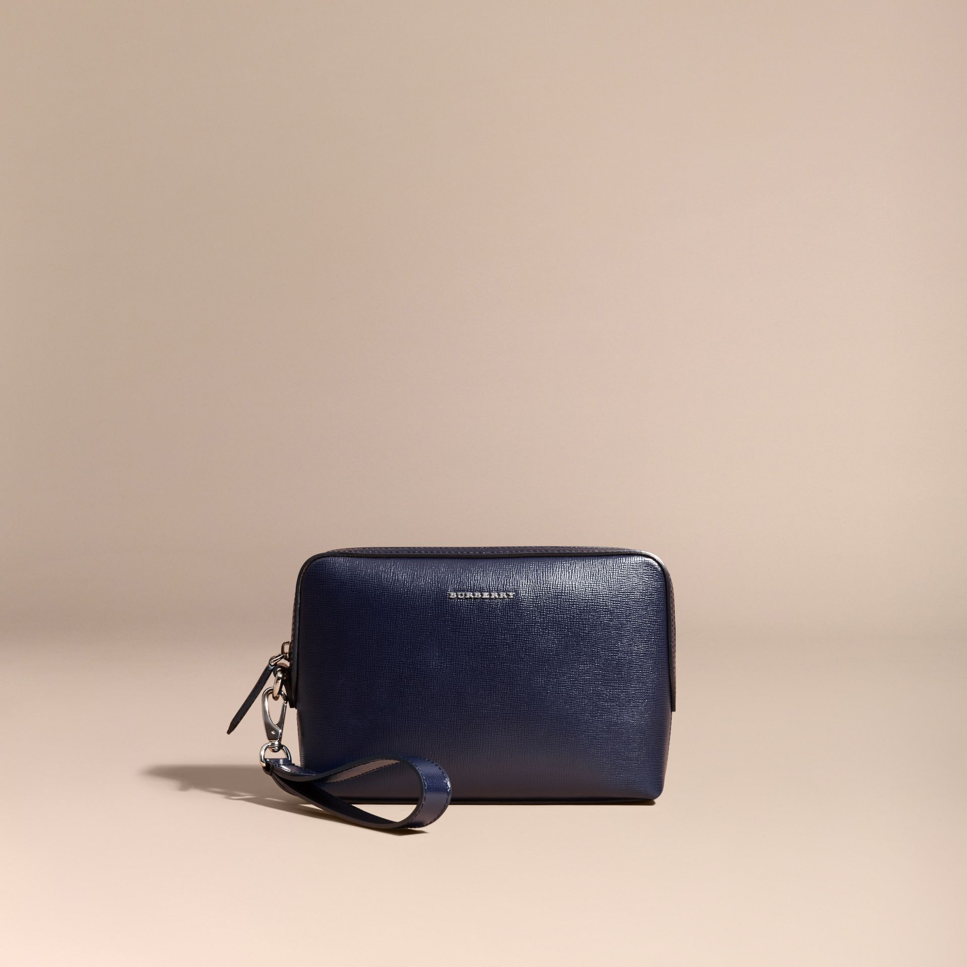 London Leather Pouch in Dark Navy - Men | Burberry Australia - gallery image 6