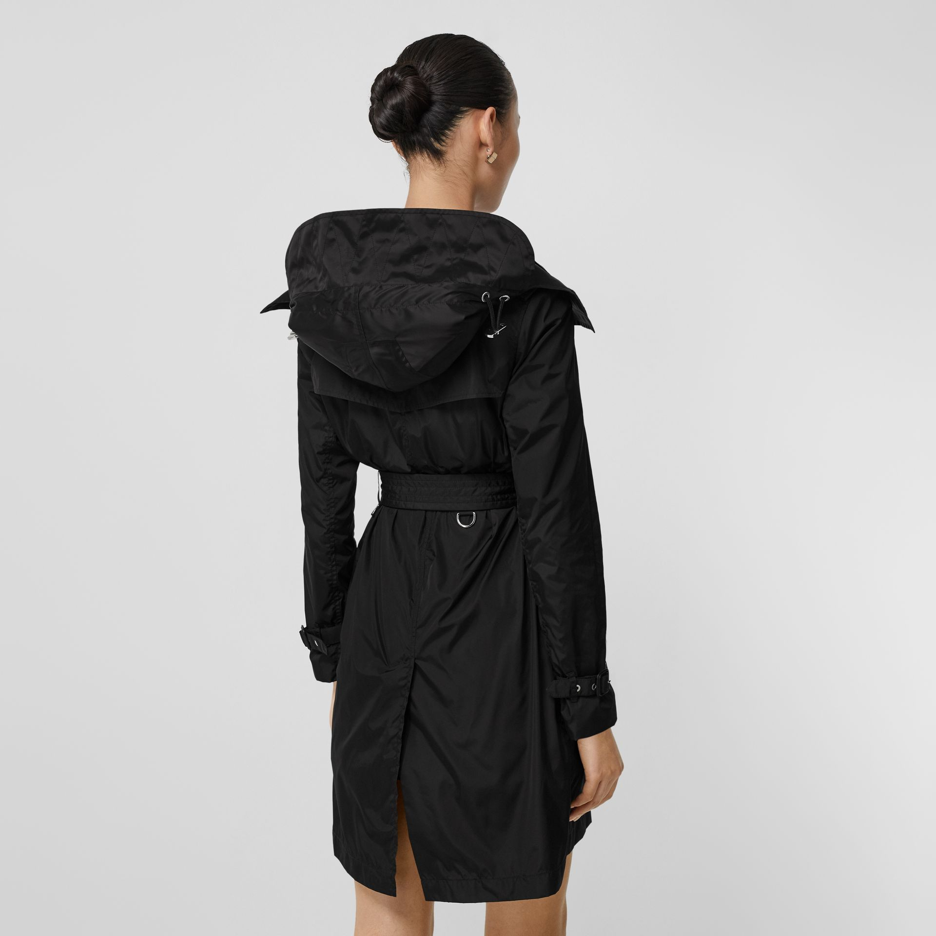 Detachable Hood ECONYL® Trench Coat in Black - Women | Burberry United Kingdom - gallery image 2