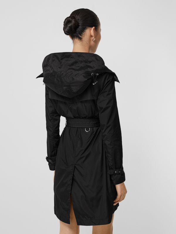 Detachable Hood ECONYL® Trench Coat in Black - Women | Burberry - cell image 2