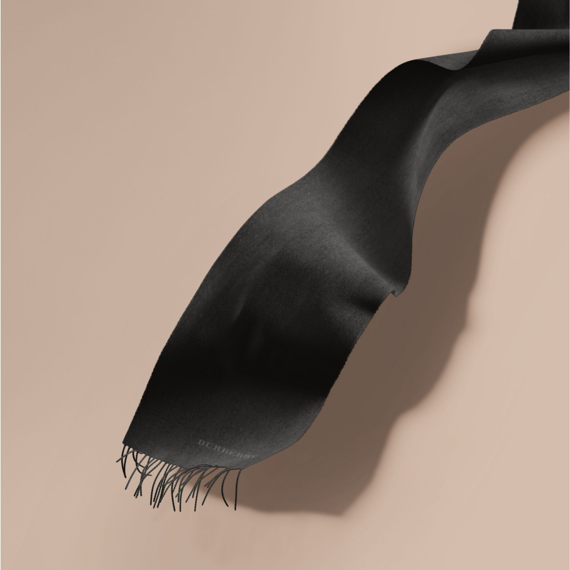 Charcoal The Classic Cashmere Scarf Charcoal - gallery image 1