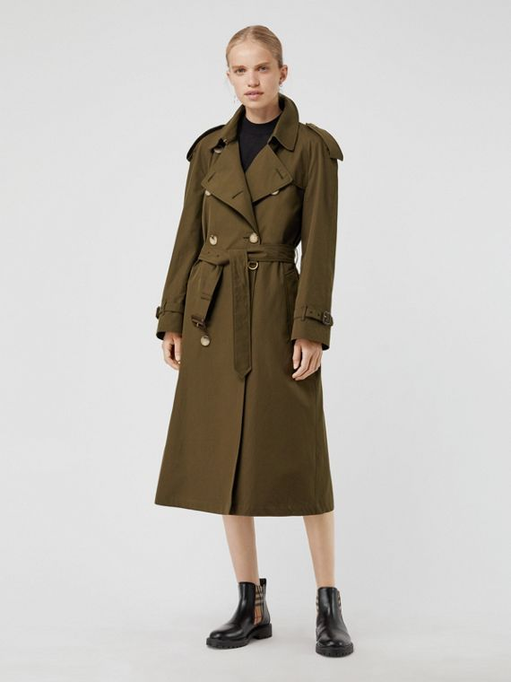 The Westminster - Trench coat Heritage longo (Cáqui Militar Escuro)