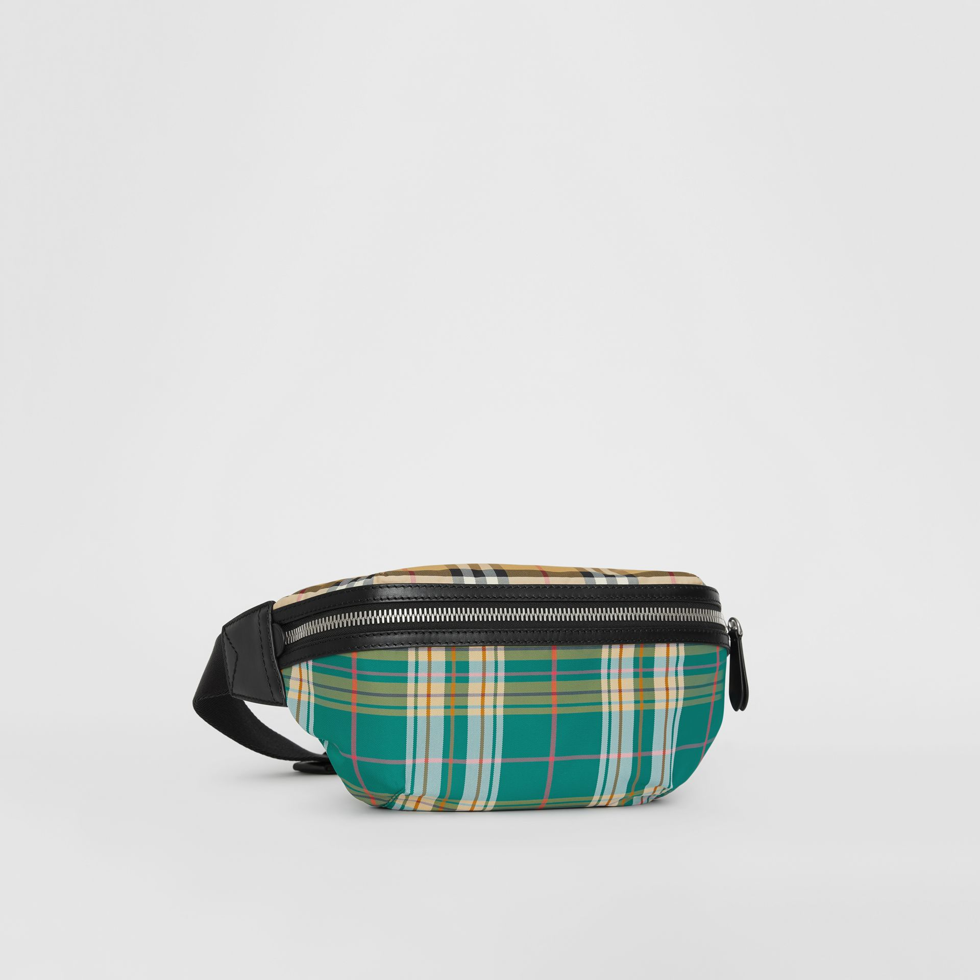 Medium Vintage Check and Tartan Bum Bag in Pine Green | Burberry - gallery image 6