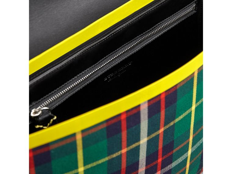 Large Tartan Cotton Messenger Bag in Forest Green | Burberry - cell image 4
