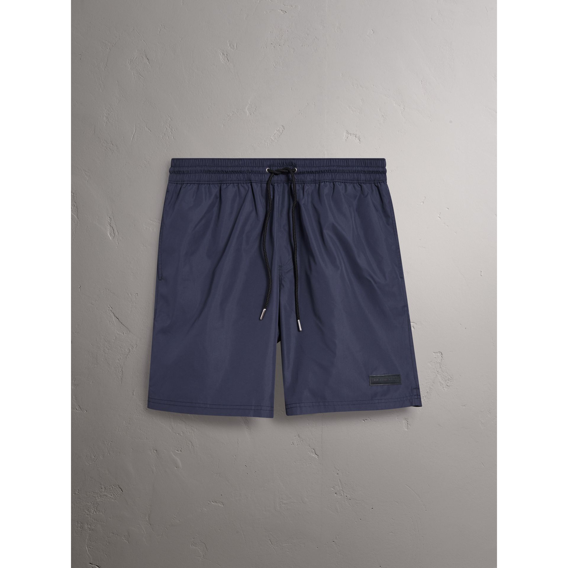 Drawcord Swim Shorts in Navy - Men | Burberry - gallery image 0