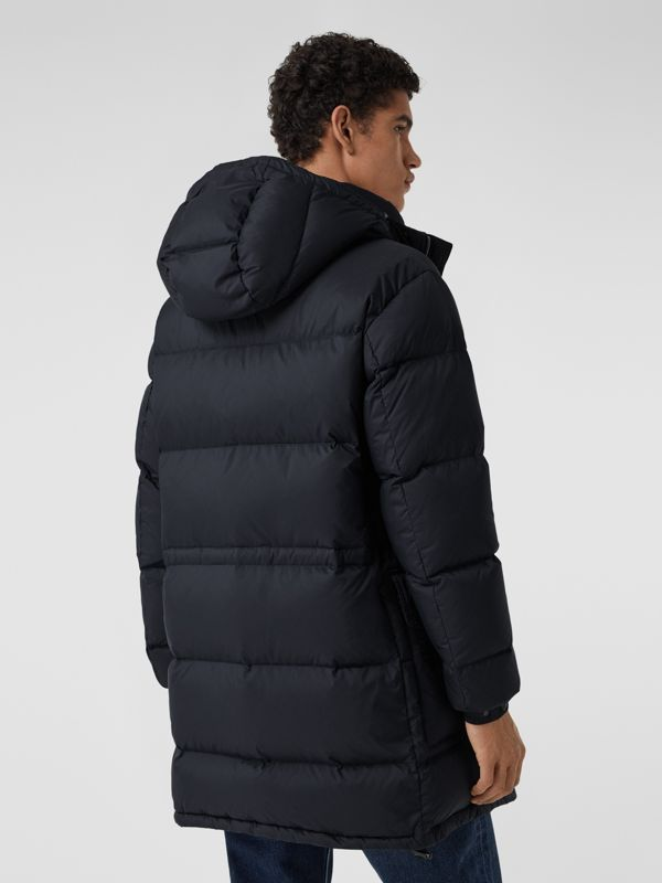 Hooded Puffer Coat in Navy - Men | Burberry - cell image 2