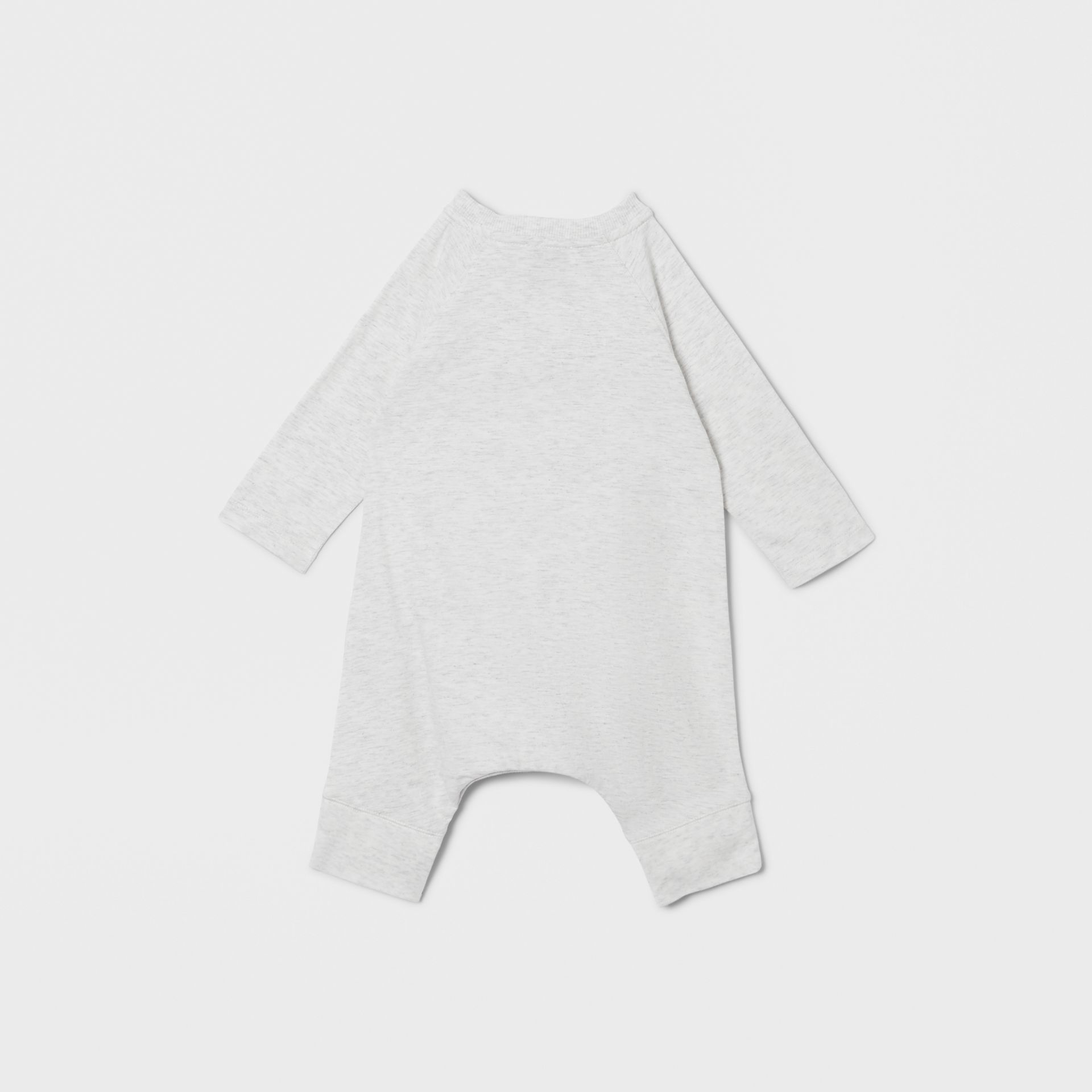 Logo Print Cotton Three-piece Baby Gift Set in White Melange - Children | Burberry - gallery image 4
