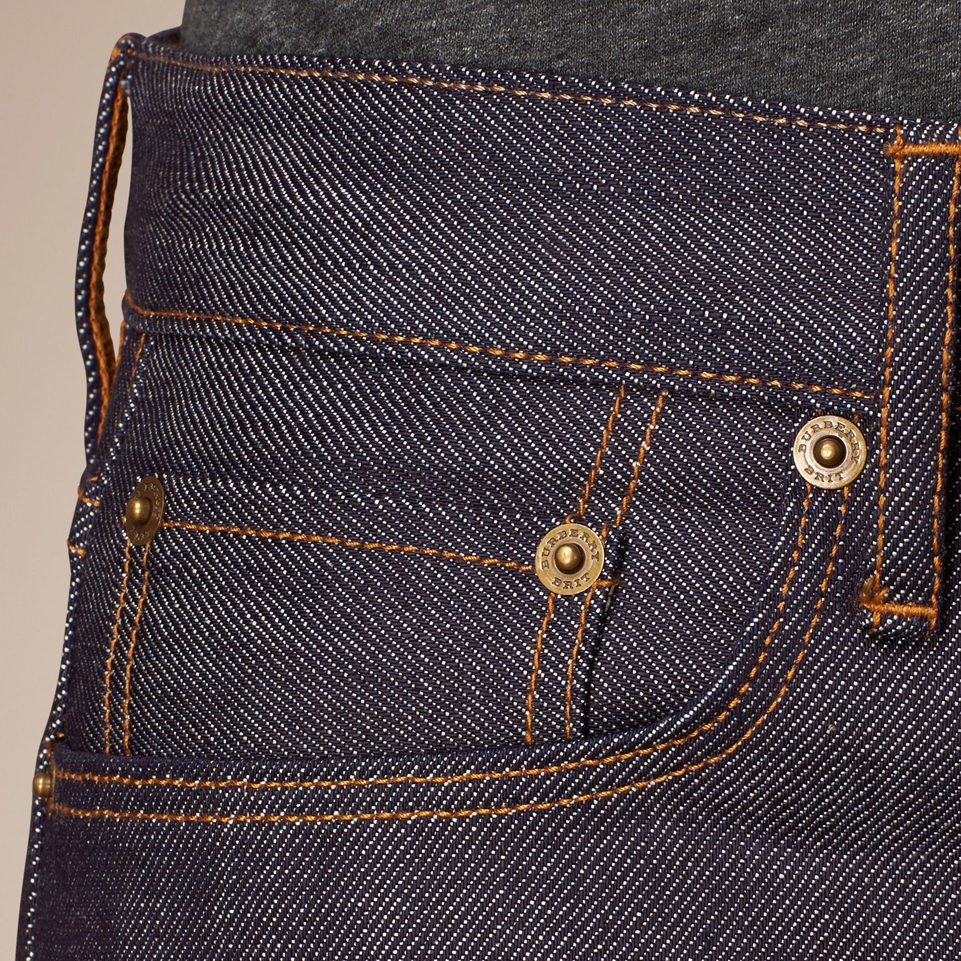 Straight Fit Deep Indigo Jeans - gallery image 5