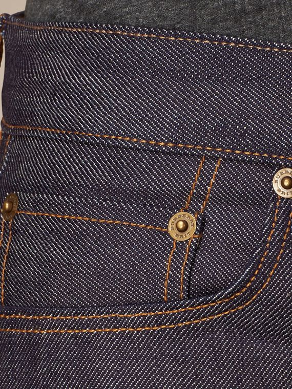 Mid indigo Straight Fit Deep Indigo Jeans - cell image 3