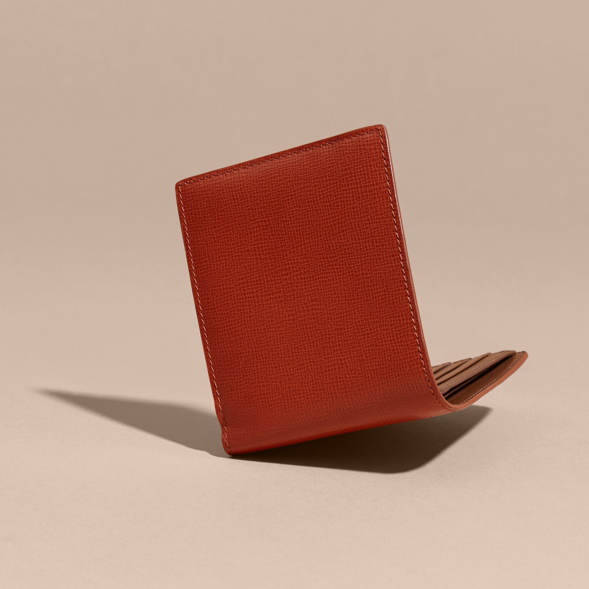London Leather Folding Wallet Burnt Sienna - gallery image 5