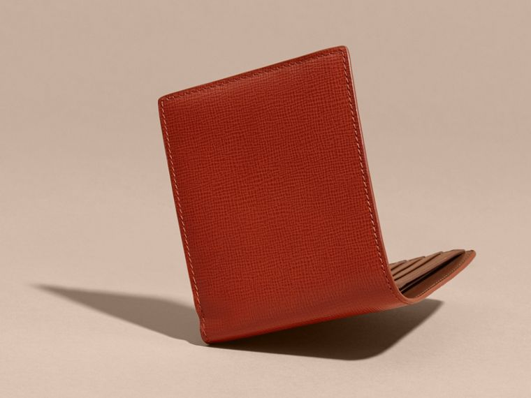 London Leather Folding Wallet Burnt Sienna - cell image 4