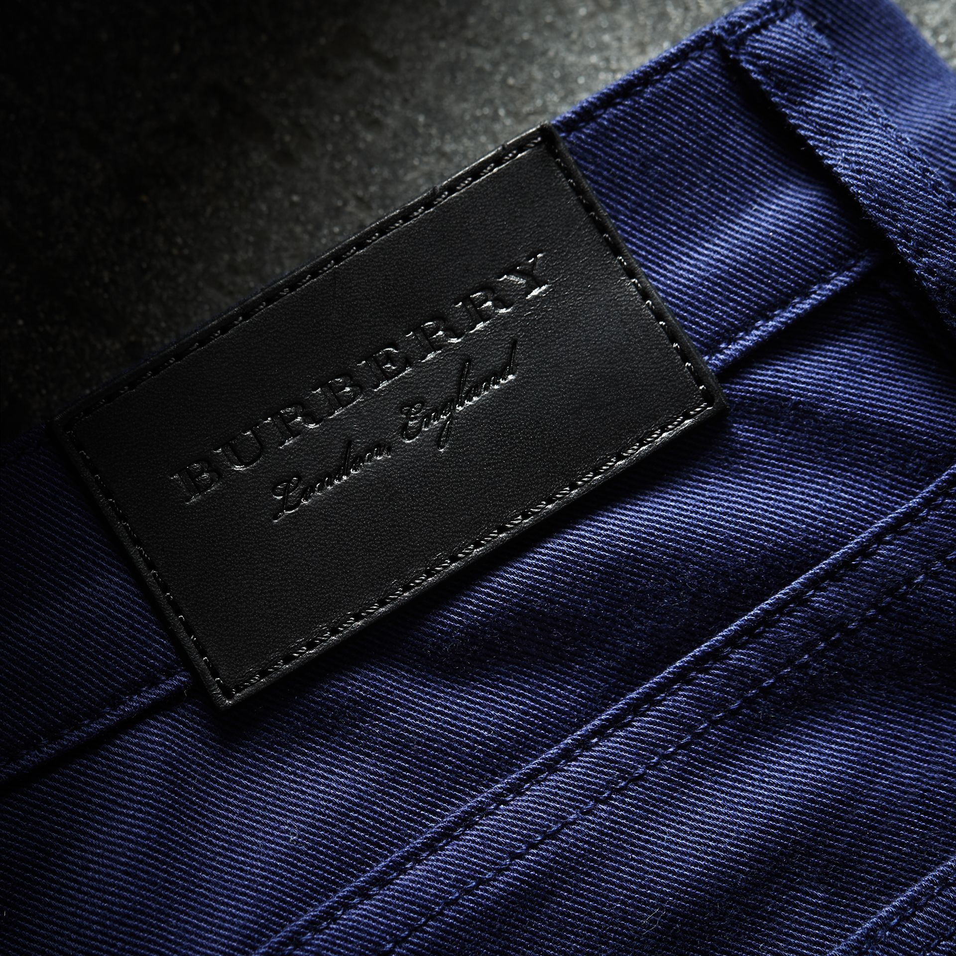 Straight Fit Unwashed Stretch Denim Jeans - Men | Burberry - gallery image 2