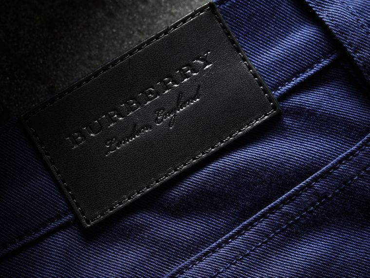 Straight Fit Unwashed Stretch Denim Jeans - Men | Burberry - cell image 1