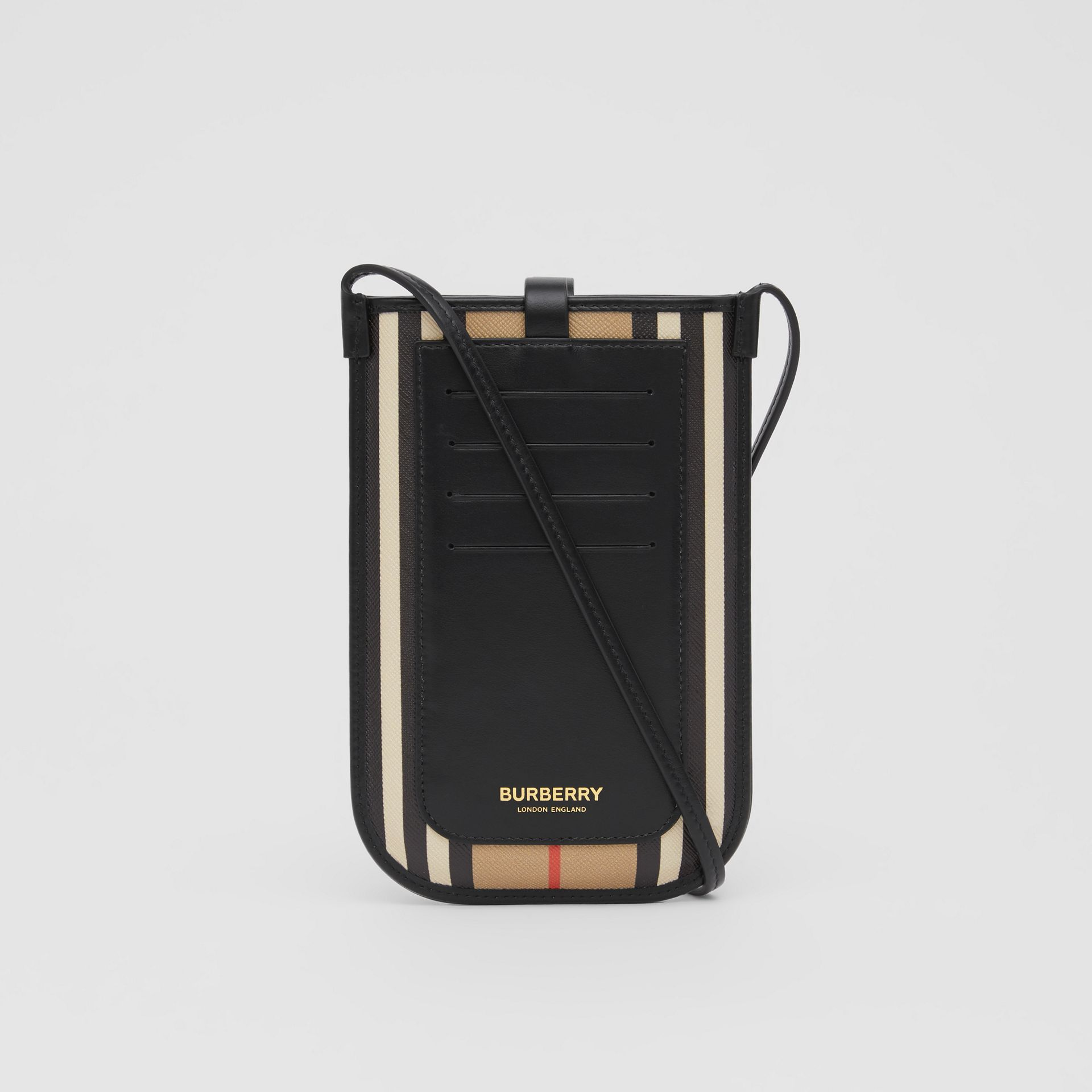 Icon Stripe E-canvas Phone Case with Strap in Archive Beige | Burberry - gallery image 6