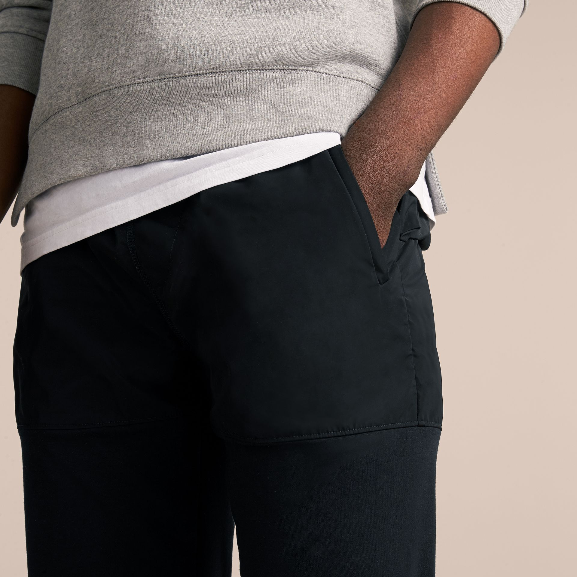 Sport Panel Cotton Blend Sweatpants in Black - Men | Burberry United Kingdom - gallery image 5