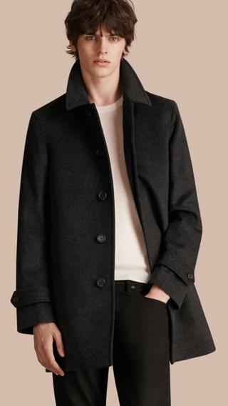 Cappotto in lana vergine e cashmere