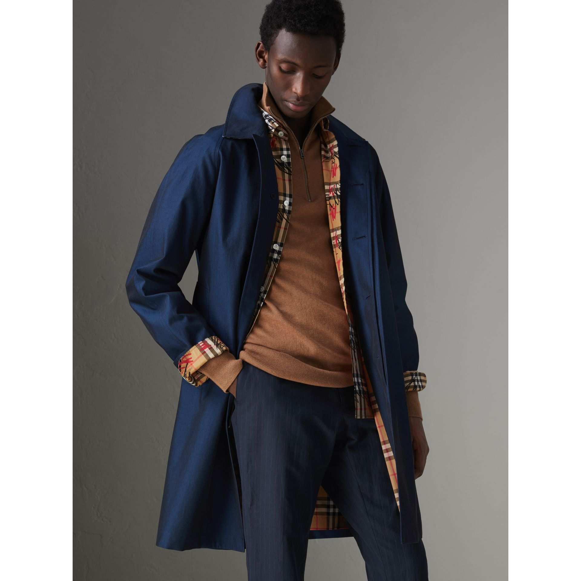 The Camden Car Coat in Bright Regency Blue - Men | Burberry United Kingdom - gallery image 5