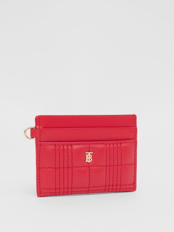 Monogram Motif Quilted Lambskin Card Case in Bright Red - Women | Burberry Hong Kong S.A.R - cell image 3