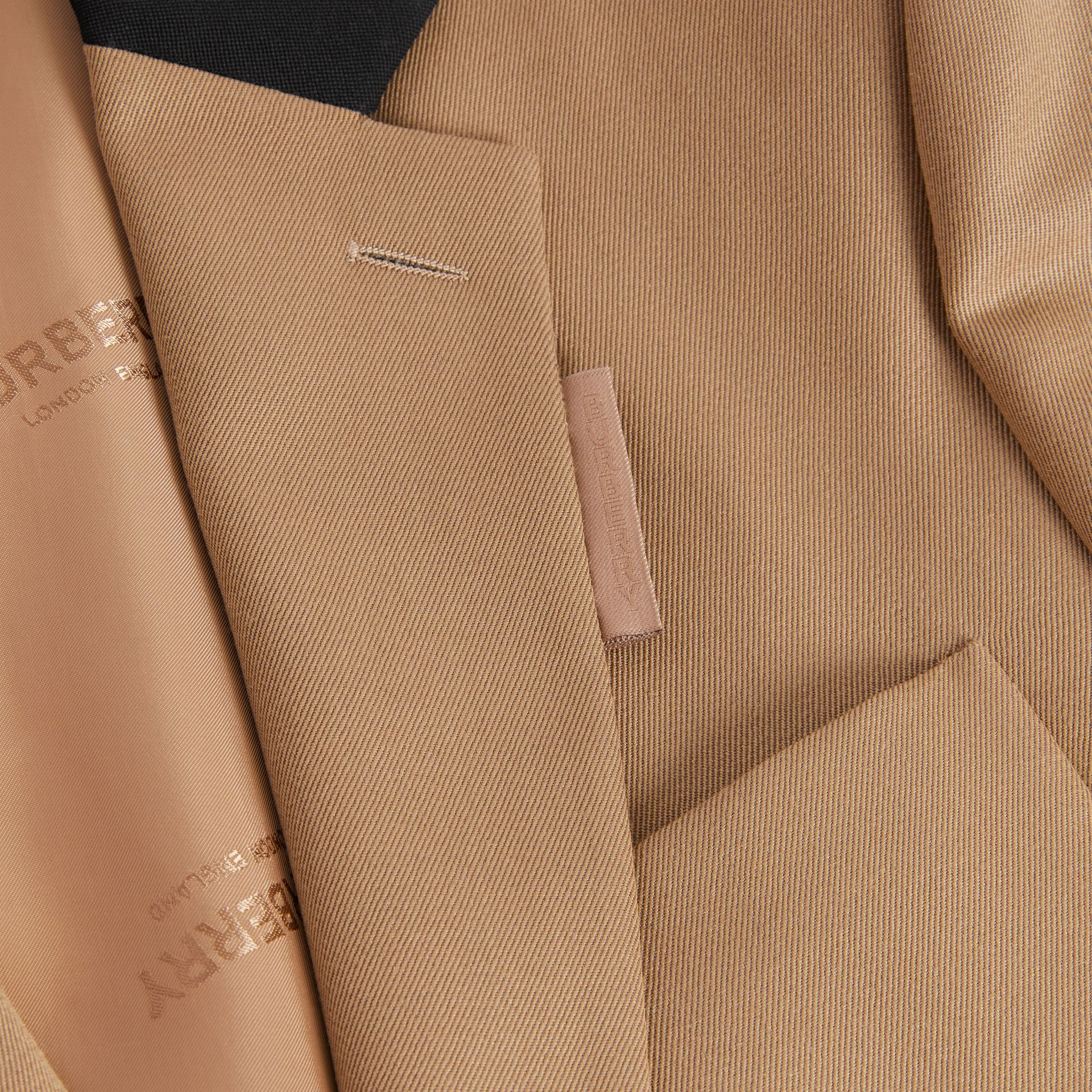 Classic Fit Two-tone Wool Tailored Jacket in Camel - Men | Burberry United Kingdom - gallery image 7
