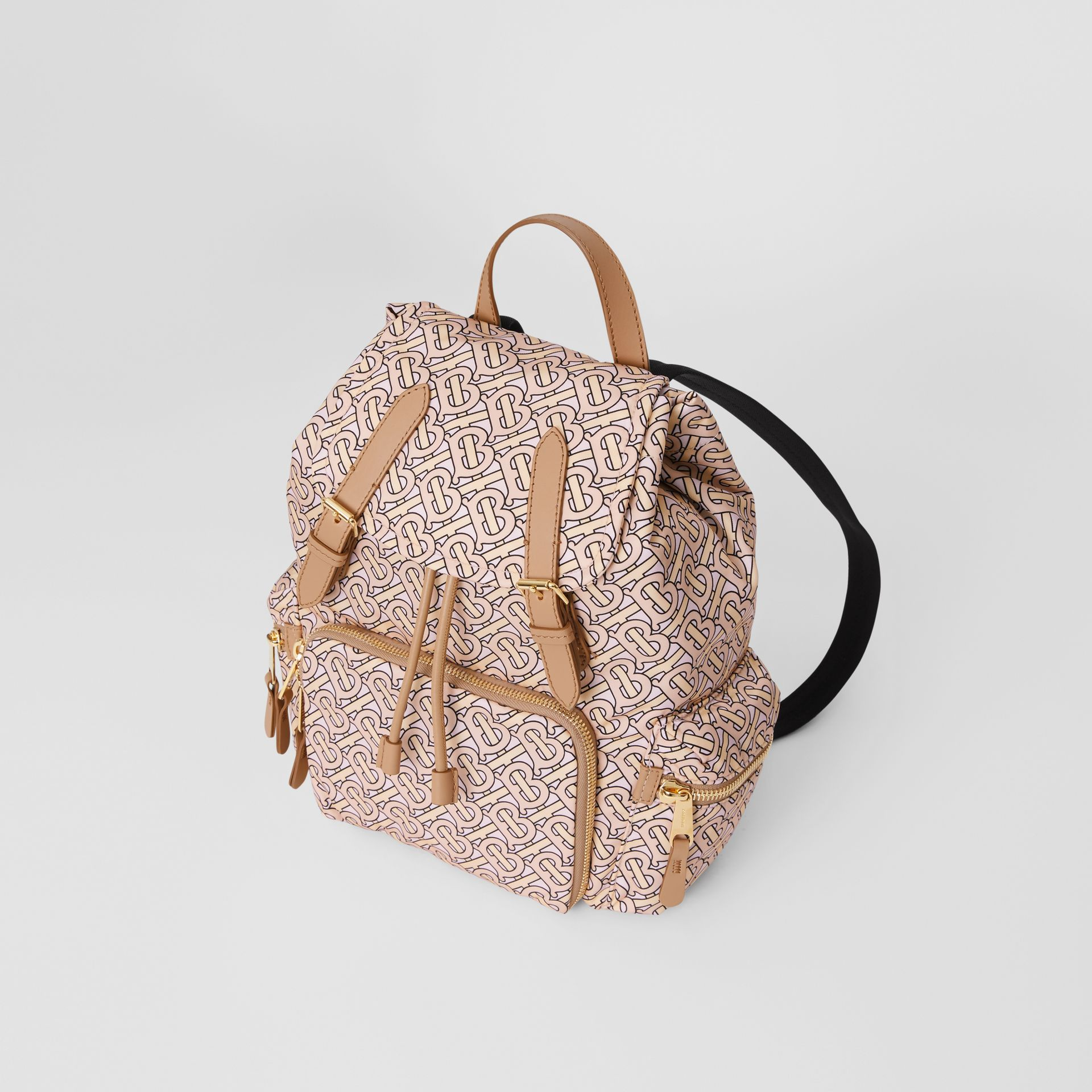 The Medium Rucksack in Monogram Print Nylon in Blush - Women | Burberry United Kingdom - gallery image 3