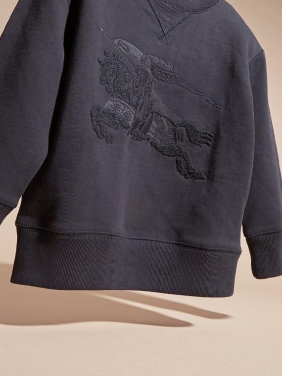 Dark navy Equestrian Knight Detail Cotton Sweatshirt Dark Navy - cell image 2