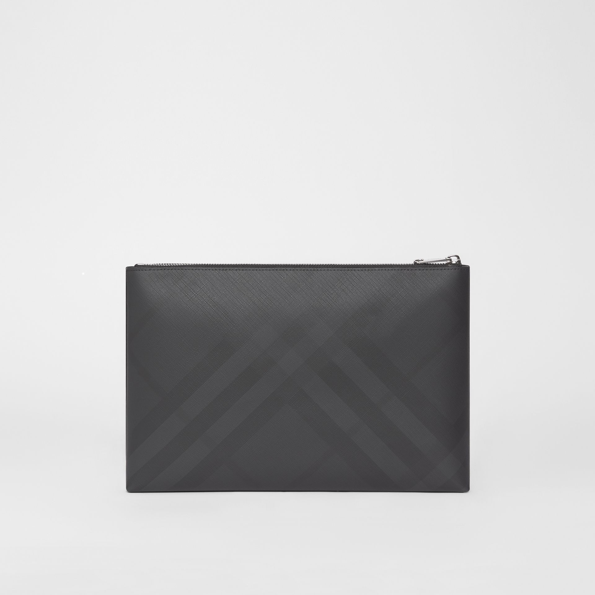 London Check Zip Pouch in Dark Charcoal | Burberry - gallery image 6
