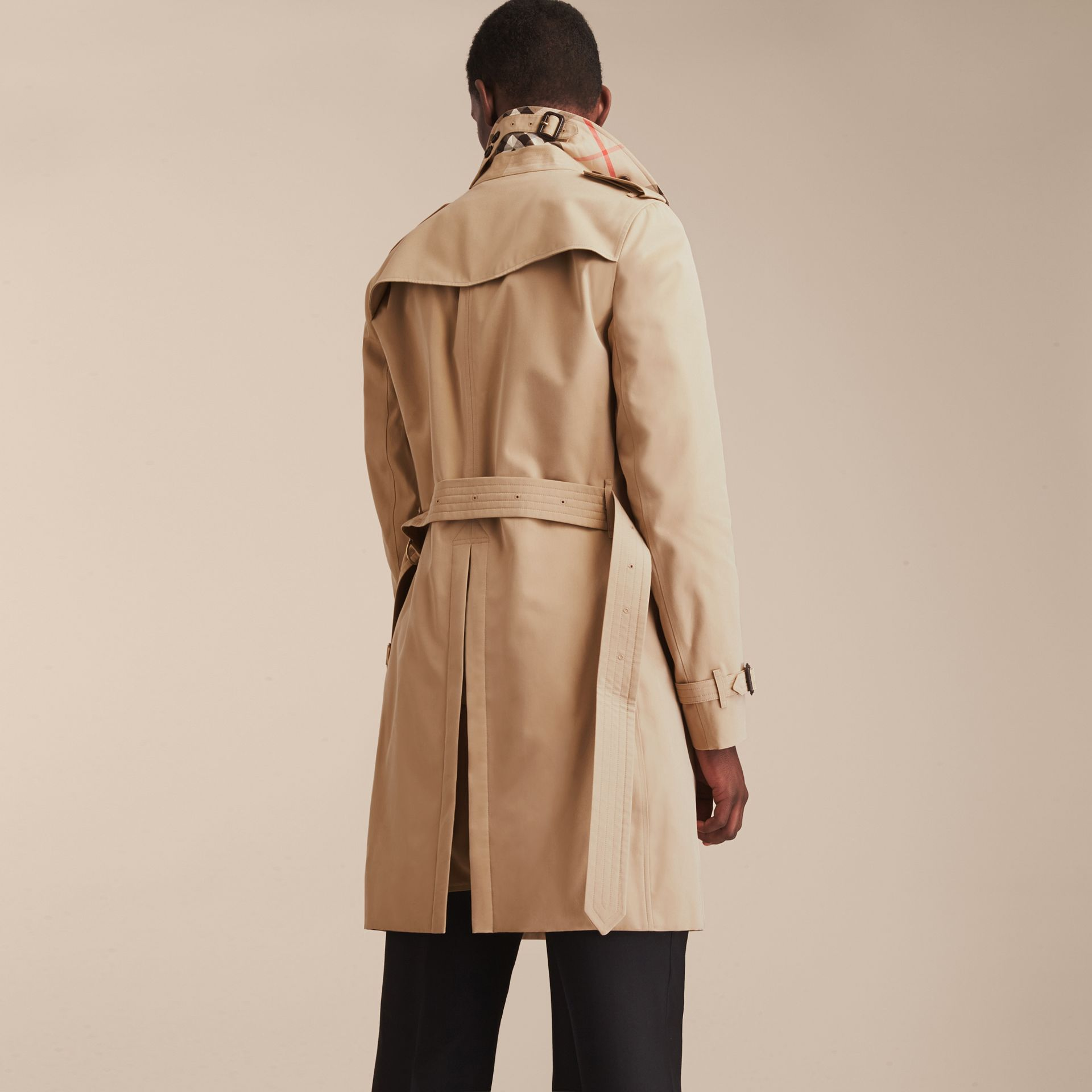 Honey The Chelsea – Long Heritage Trench Coat Honey - gallery image 4