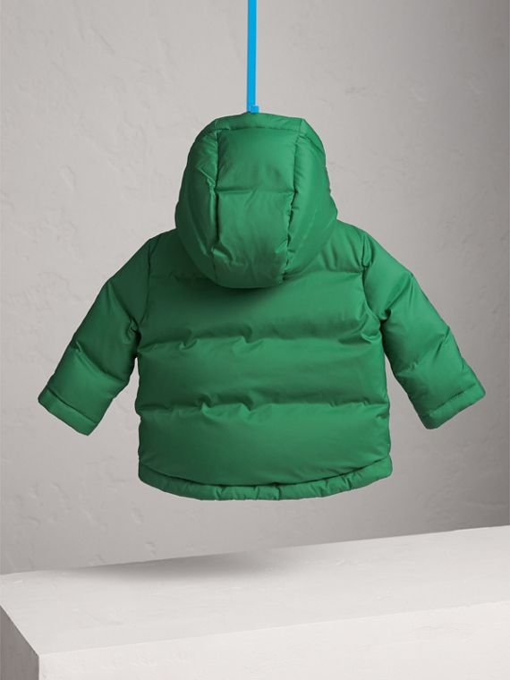 Down-filled Hooded Puffer Jacket in Pigment Green | Burberry - cell image 3