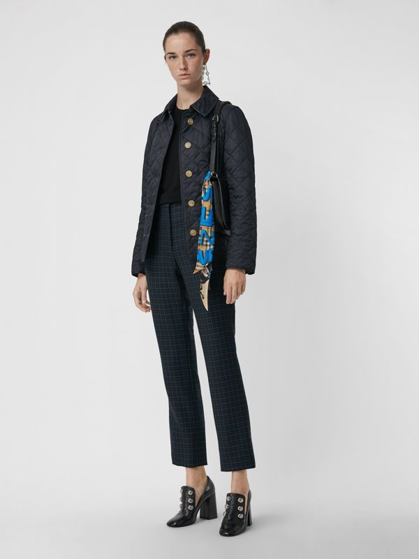 Graffiti Archive Scarf Print Silk Skinny Scarf in Bright Blue - Women | Burberry Singapore - cell image 2