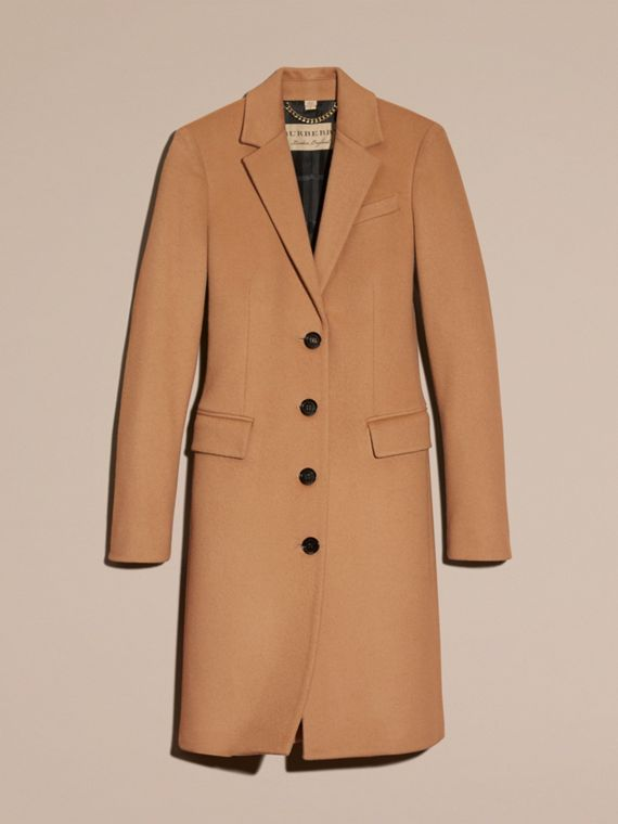 Wool Cashmere Tailored Coat in Camel - cell image 3