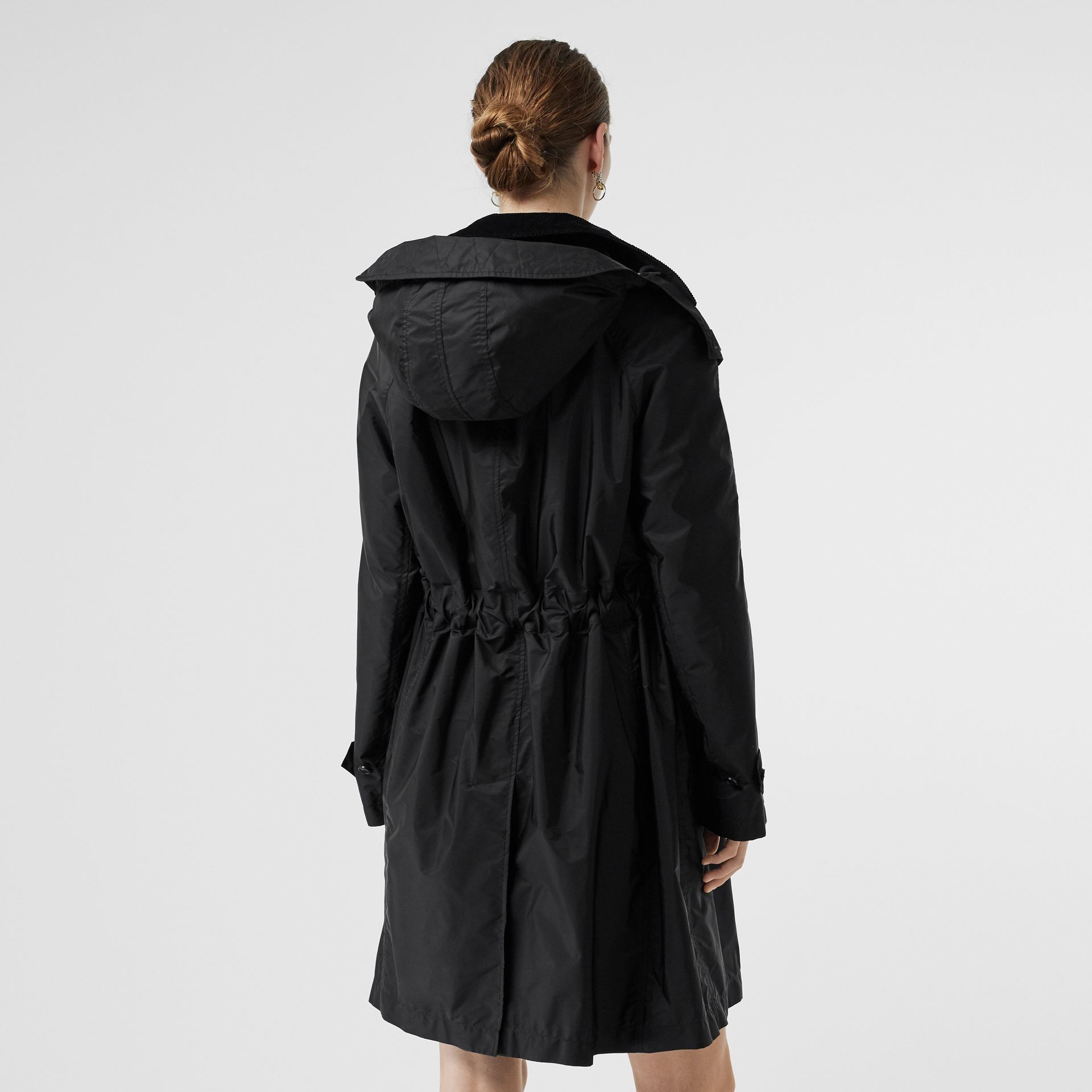 Detachable Hood Taffeta Parka in Black - Women | Burberry - gallery image 2