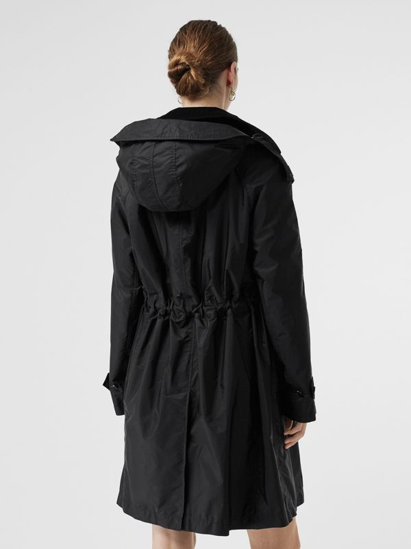 Detachable Hood Taffeta Parka in Black - Women | Burberry - cell image 2