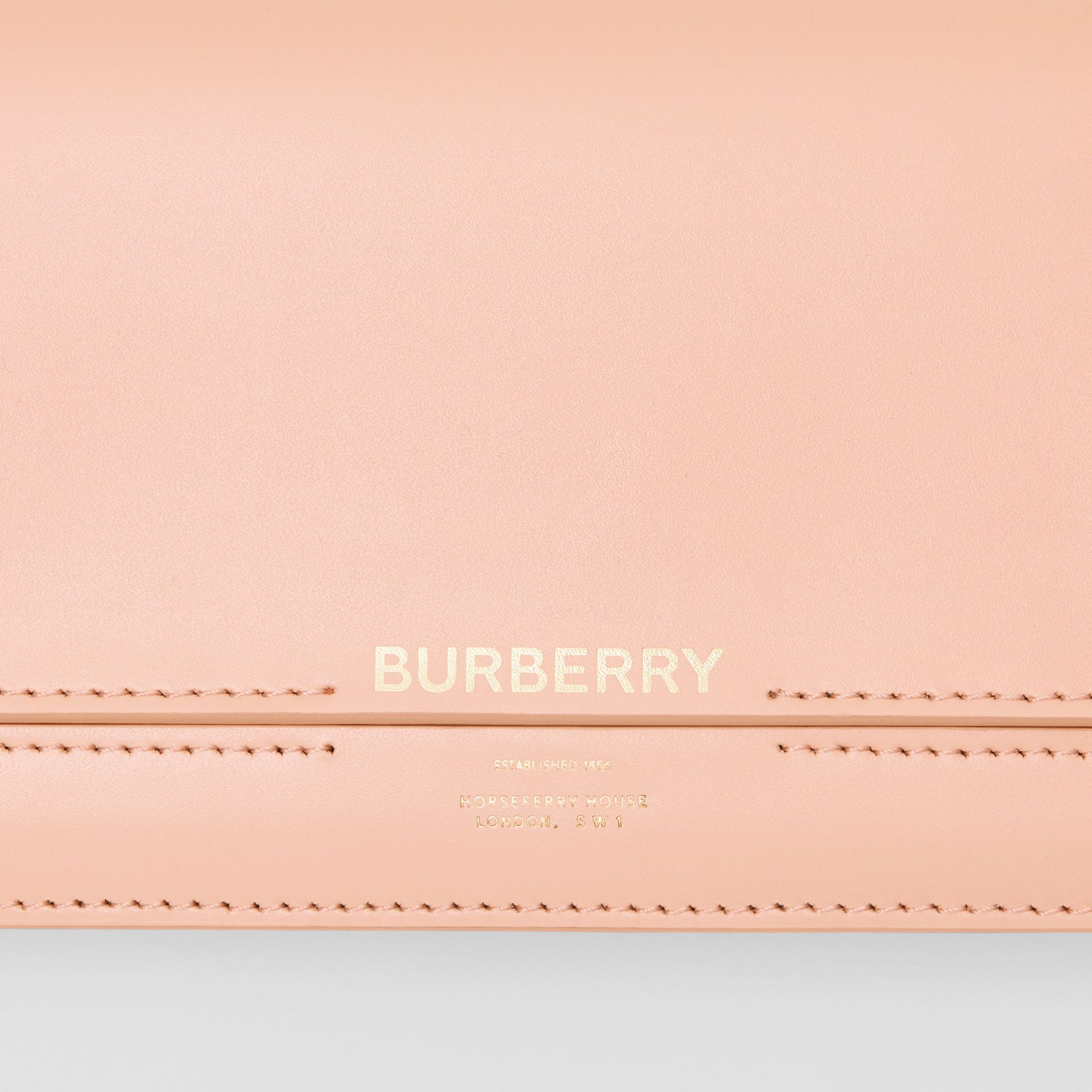 Horseferry Embossed Leather Continental Wallet in Blush Pink - Women | Burberry - gallery image 1
