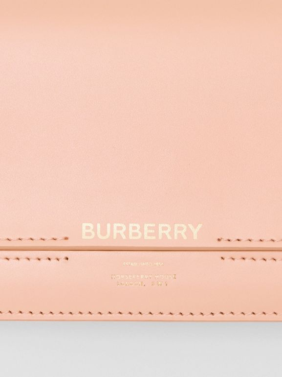 Horseferry Embossed Leather Continental Wallet in Blush Pink - Women | Burberry Australia - cell image 1