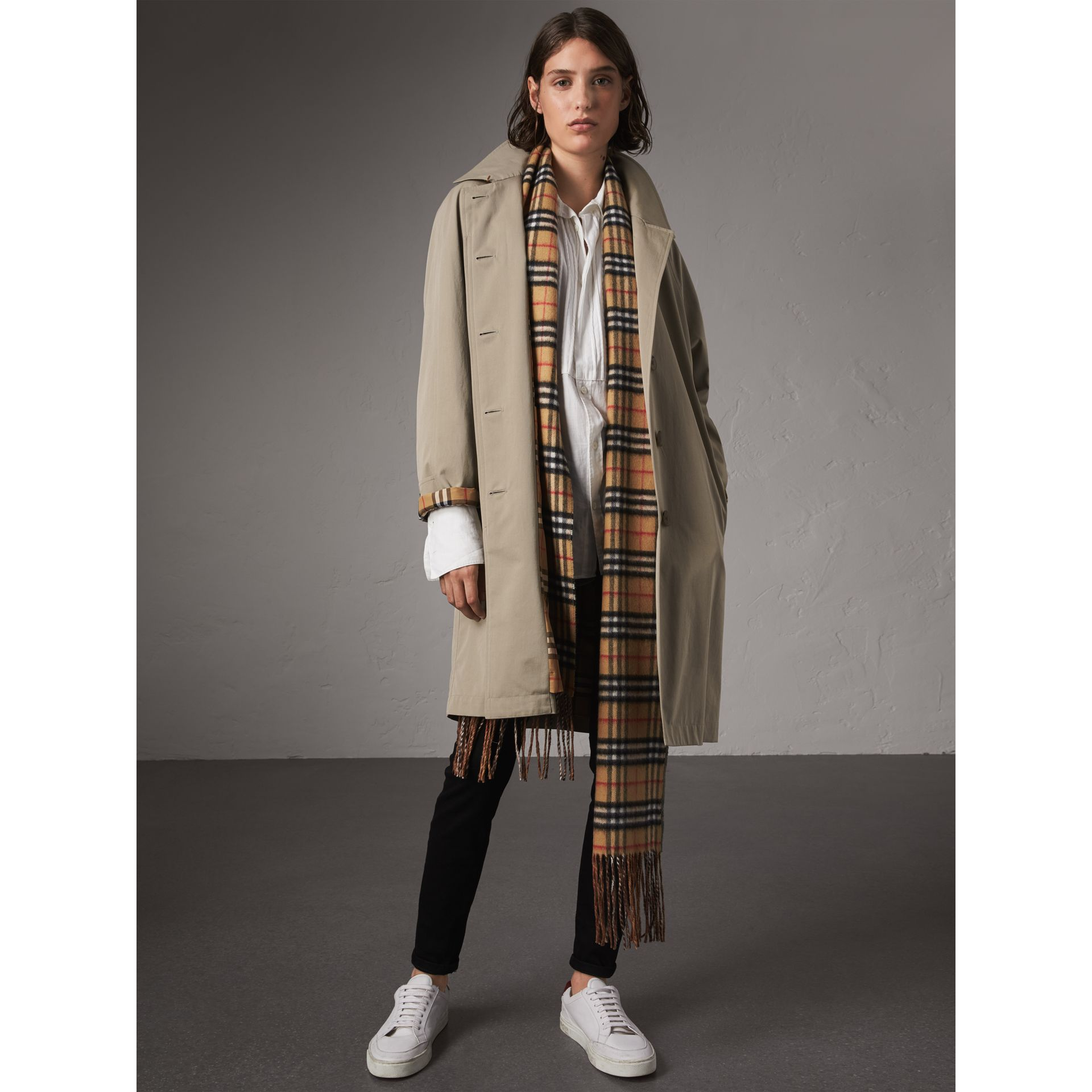 The Camden – Long Car Coat in Sandstone - Women | Burberry - gallery image 6