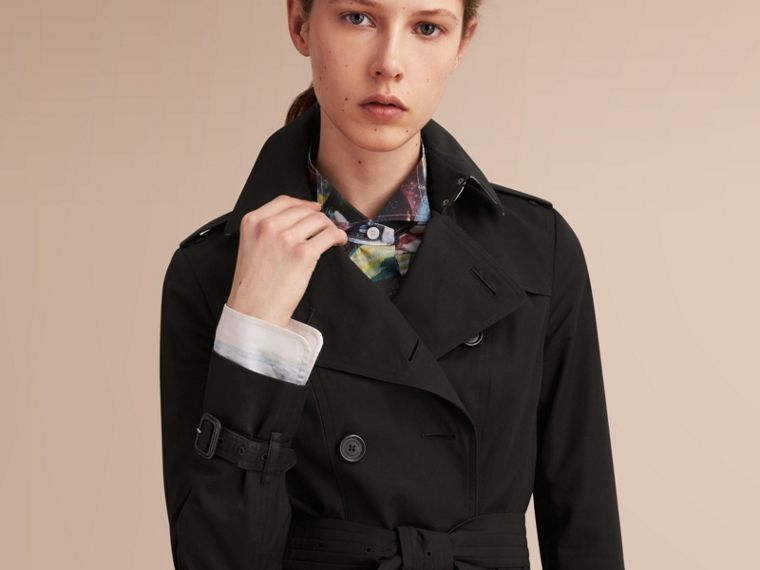The Sandringham – Short Heritage Trench Coat Black - cell image 4