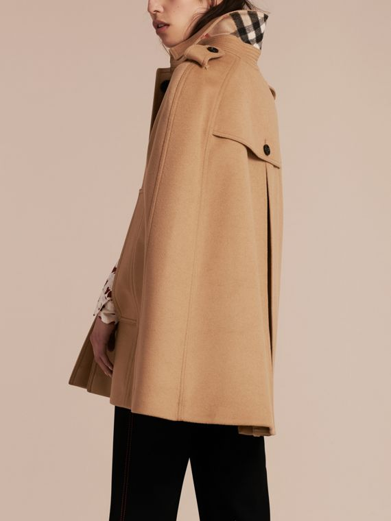 Camel Wool Cashmere Blend Trench Cape - cell image 2