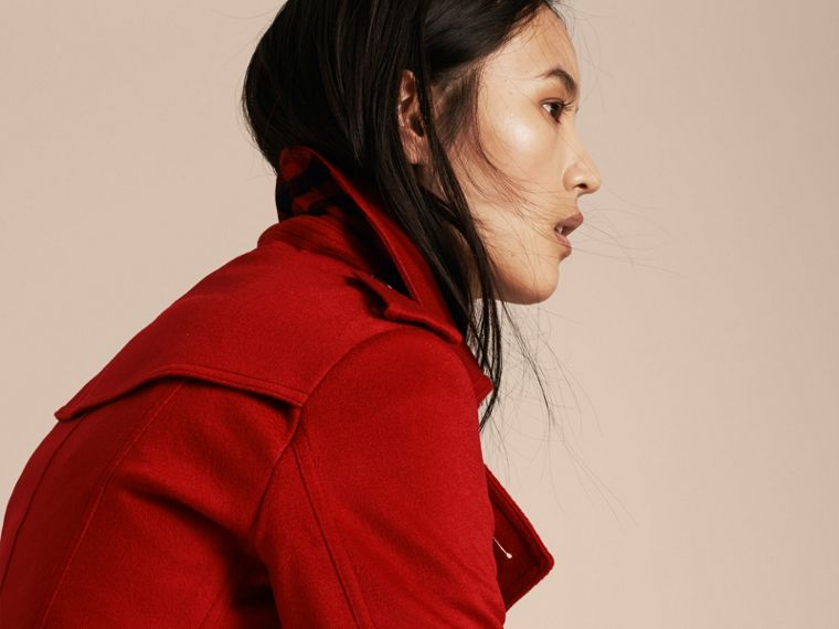 Parade red Trench coat de cashmere com corte Sandringham Parade Red - cell image 4